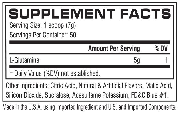 Glutamine cor performance 50 servings - Cellucor