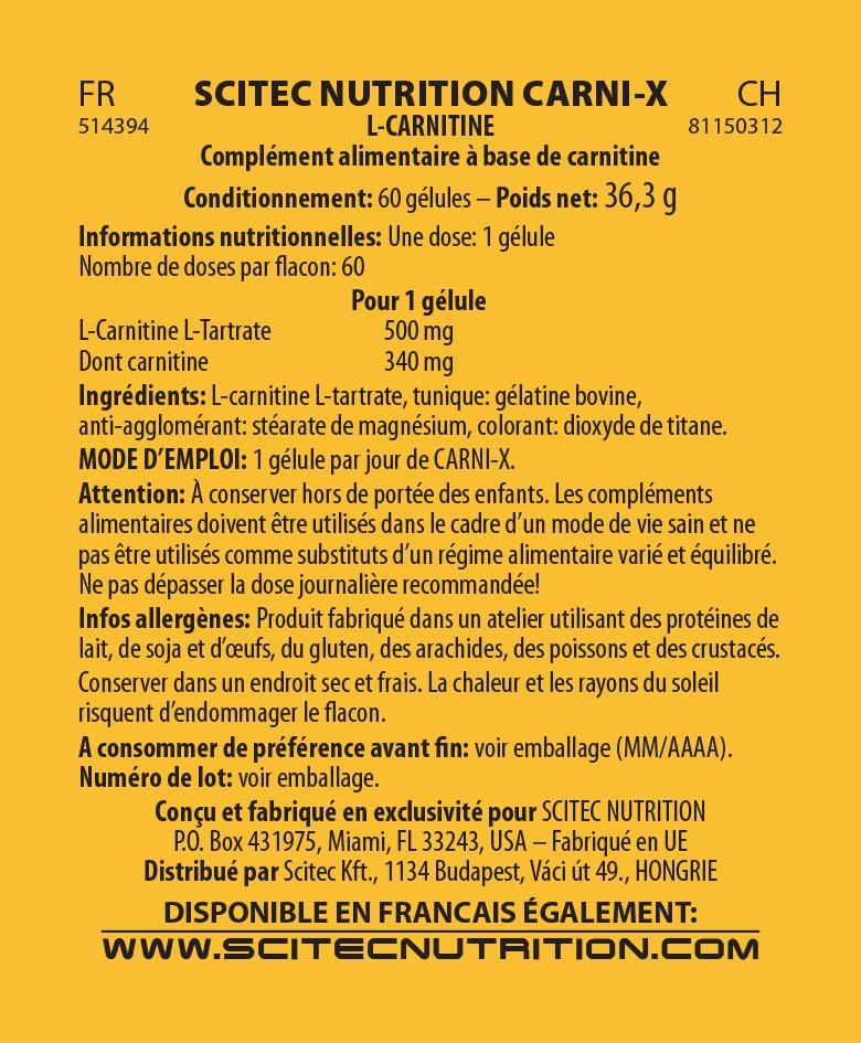 Carni-X  60 Caps  - Scitec Nutrition