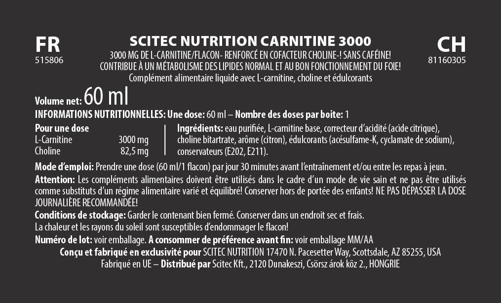 Shot L-Carnitine  12x60ML(720ML) - Scitec Nutrition