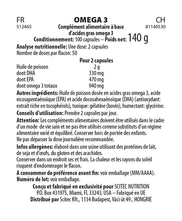 Oméga 3 100 Caps - Scitec Nutrition